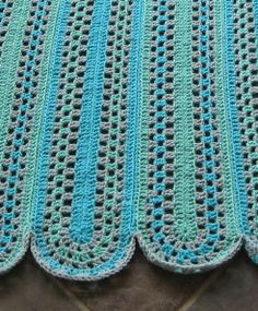As promised, here is the Granny Mile-a-Minute Afghan pattern. This is the afghan version of the scarf pattern I posted awhile back.