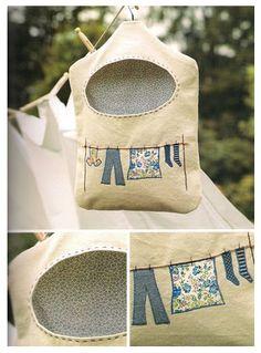 hamoraima: Bolsa de tela para las pinzas