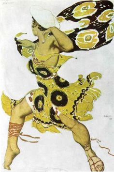 By Leon Bakst, 1 9 1 1, Narcisse a youth.