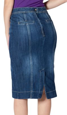 Pencil style Blue Denim Skirt available in #PlusSize (UK Size16 ) ...