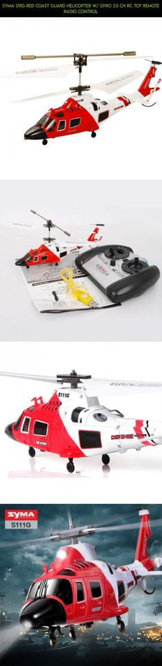 SYMA S111G Red Coast Guard Helicopter w/ GYRO 3.5 CH RC Toy Remote Radio Control #gadgets #fpv #tech #shopping #parts #kit #camera #racing #drone #syma #technology #plans #products #helicopter
