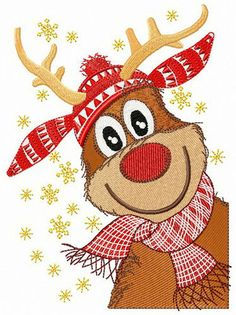 Stylish deer machine embroidery design from Christmas collection looks fantastic at warm winter sweaters. Local Embroidery, Border Embroidery, Embroidery Materials, Hand Embroidery Tutorial, Embroidery Transfers, Learn Embroidery, Machine Embroidery Patterns, Embroidery Scarf, Flower Embroidery