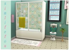 Shower-tub recolor at Simlife • Sims 4 Updates