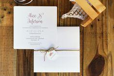 Convite de casamento moderno | Estúdio Amora | Elo7