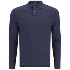 Polo Ralph Lauren Men's Slim Fit Long Sleeved Polo Shirt - Newport Navy