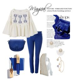 """""""BLUE ROYAL & New tendence"""" by nurinur ❤ liked on Polyvore featuring MANGO"""