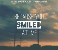 #AlltheBrightPlaces - Jennifer Niven