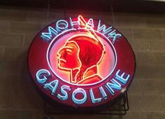 Rare Original Mohawk Gasoline Neon Sign