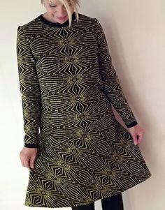 Vintage Geometric Womens Dress Rare by EchoesInTimeVintage on Etsy