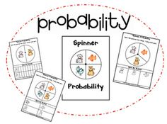 Data Analysis and Probability. First Grade Best: Spin, Roll, Tally, and Graph Math Classroom, Kindergarten Math, Teaching Math, Elementary Math, Teaching Ideas, Classroom Ideas, Probability Games, Math Fractions, Math Resources