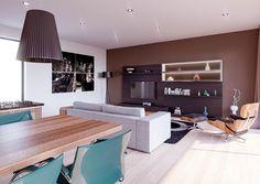 Výstavba rodinných domov - IDEÁLNE DOMY Modern House Plans, Conference Room, Design, Civil Engineering, Furniture, Home Decor, Beach Cottages, Townhouse, Home Layouts