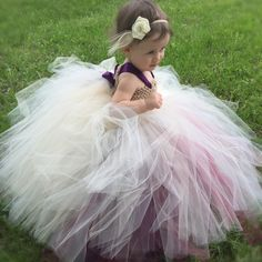 Planning a vintage inspired wedding? This tutu dress is perfect for your flower girls!