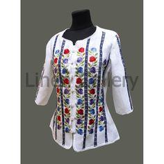 Ukrainian Modern Embroidered Boho Linen by LinenGalleryStore