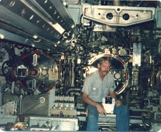 Torpedo room USS Blueback I spent my first weeks as a non-qual bunking next to Mk-48's in this compartment.