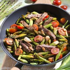 Spargel aus dem Wok mit Steakstreifen Asparagus from the wok with steak strips Strip Steak, Asparagus Recipe, Spring Recipes, Beef Dishes, Grilling Recipes, Superfood, Soul Food, Kung Pao Chicken, Low Carb