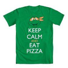"Teenage Mutant Ninja Turtle ""Keep Calm and Eat Pizza"" Mens Green Shirt   http://www.ebay.com/itm/Teenage-Mutant-Ninja-Turtle-Keep-Calm-and-Eat-Pizza-Mens-Green-Shirt-/330936652466?pt=US_Mens_Tshirts==item4d0d5c92b2"