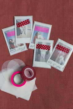 favors! Take pictures of each guest with Instax Mini camera and slide it into little glassine envelope with cute washi tape. Send with Thank-you note?