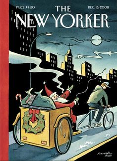"cadenced: "" Marcellus Hall's illustration for the December 15 2008 edition of the New Yorker. Enjoy your Christmas break. """