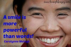 Smiles, the gift to be shared!  Who's day will you brighten?