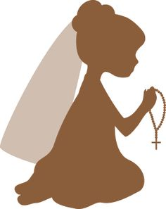 Silhouettes First Communion Clipart. Silhouette Curio, Silhouette Images, Silhouette Portrait, Silhouette Cameo Projects, First Communion Banner, First Holy Communion, Communion Invitations, Clipart, Pictures