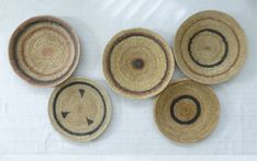 Gorgeous group of African Baskets for your walls. Handcrafted in Zambia, many hours of work goes into each basket. These are a bit like gold dust! I have 8 for sale in my store. Baskets On Wall, Storage Baskets, Basket Weaving, Hand Weaving, Wall Groupings, Artisan, Walls, Wall Decor, Store