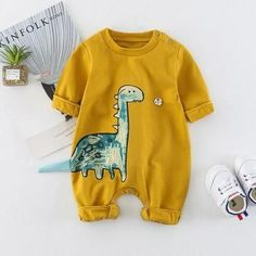 Cute Dinosaur Long-sleeve Jumpsuit for Baby