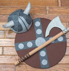 Make the cutest kids viking costume you ever did see. Downloadable patterns and tutorial by handcrafted lifestyle expert Lia Griffith.