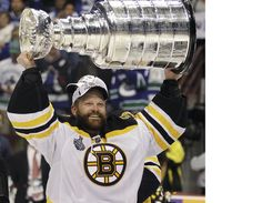 Tim Thomas is the starting Goalie for the Boston Bruins. He had to wait a decade to get a fair shot in the NHL, but he worked hard and made the most of his shot. Now he's a champion. Tim Thomas, Ice Hockey Teams, Florida Panthers, Stanley Cup Champions, Boston Sports, National Hockey League, Boston Bruins, Football Team, Nhl