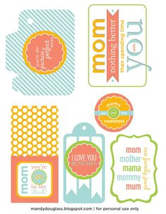 Free Printables for Mother's Day & Great Mother's Day gift ideas from mandydouglass.blogspot.com