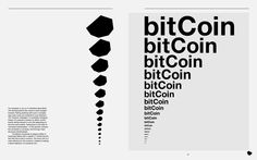 Bitcoin graphic Identity JP Brenner (student work)