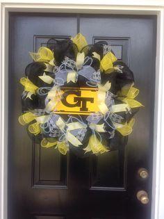 My GT deco mesh wreath