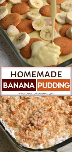 This delectable Homemade Banana Pudding combines creamy vanilla pudding with sweet slices of banana, vanilla wafers, and fresh whipped cream. Vanilla Wafer Banana Pudding, Homemade Vanilla Pudding, No Bake Banana Pudding, Banana Pudding Recipes, Best Dessert Recipes, Fun Desserts, Sweet Recipes, Trifle Desserts, Chef Recipes