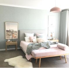 Pink and grey room decor grey and pink bedroom decor full size of bedroom for pink . pink and grey room decor Pink Bedroom Design, Pastel Bedroom, Modern Bedroom Decor, Bedroom Green, Home Bedroom, Bedroom Ideas, Bedroom Designs, Sofa In Bedroom, Blush Pink And Grey Bedroom