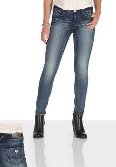 Hydraulic ® Dark Wash flap pocket knit skinny jeans