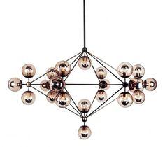 Lampa ANKA 21Lampa ANKA 21 to designerska dekoracja i funkcjonalne oświetlenie w jednym! Swój urok model zawdzięcza 21 punktom świetlnym – szklanym, przydymionym kulom, pomysłowo rozlokowanym na metal ...