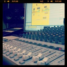 Working on another production - Making music.