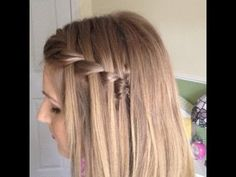 Fishtail/Plait Waterfall Braid Hairstyle. Doing this as soon as my hair grows out a little more