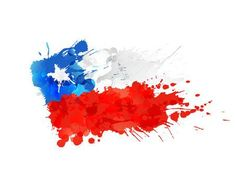 Illustration of Flag of Chile made of colorful splashes vector art, clipart and stock vectors. Flag Painting, Vector Art, Illustration, Doodles, Geek Stuff, Clip Art, Watercolor, Instagram, Scrapbook