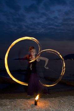 Fire Spinning in Lerici (Italy) - by Christian Cantelli 2011.