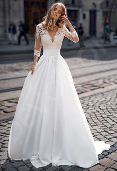 Wedding Dress Sleeves, Elegant Wedding Dress, Dream Wedding Dresses, Bridal Dresses, Gown Wedding, Elegant Dresses, Wedding Cakes, Wedding Rings, Gowns With Sleeves