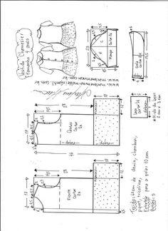 Vestido chamesier com babado - DIY- marlene mukai - molde infantil - Pins für alles Kids Patterns, Sewing Patterns, Mccalls Patterns, Dress Patterns, Power Hammer, Engraving Tools, Patent Prints, Shed Plans, Sewing For Kids