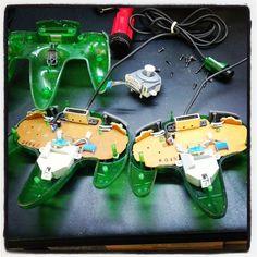Thumbstick replacements on original jungle green controllers. #retrofixgaming #retrofix #retrocollectiveus #retrocollective #videogames #nintendo #n64 #restorations