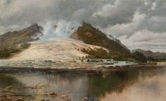 Two researchers think they& found evidence that the Pink and White Terraces at Lake Rotomahana in New Zealand survived an 1886 volcanic eruption. New Zealand Art, Natural Wonders, Terrazzo, Beautiful World, Old Photos, Wonders Of The World, Places To Visit, Marvel, Fine Art