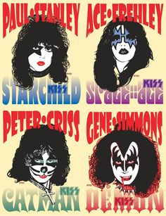 The Effective Pictures We Offer You About Book Genres posters A quality picture can tell you many things. You can find the most beautiful pictures that can be presente Genre Posters, Rock Posters, Concert Posters, El Rock And Roll, Rock And Roll Bands, Paul Stanley, Kiss Rock, Banda Kiss, Stars Du Rock