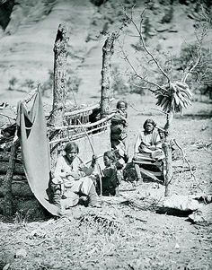 The first photographs of Canyon de Chelly came from Timothy H. O'Sullivan. While traveling with the Wheeler Survey crew, he captured this view of a hard-working Navajo family in 1873. Still a part of the Navajo Nation today, the national monument is now located in northeastern Arizona.