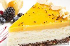 Receita de Cheesecake de maracujá em receitas de tortas doces, veja essa e outras receitas aqui!