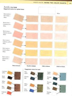 Color chart for painting skin tonesi have these very helpful if ...