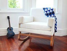 Hobbe Nursing Chair Positano Rocker Bone lifestyle 2
