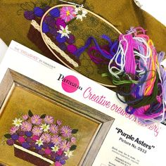 Embroidery Needles, Embroidery Kits, Get The Job, It Is Finished, Felt, Purple, Creative, Instagram, Design