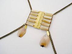 Boho body chains harness Enoli - tribal gyspy pagan breastplate style